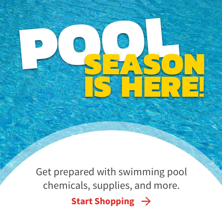 Pool Supplies, get prepared with swimming pool chemicals, supplies, and more with Start Shopping link