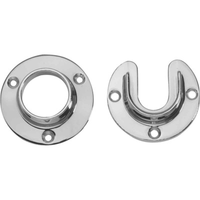 "Lido Polished Chrome Closet Flange Set 1-5/16"" Tubing"