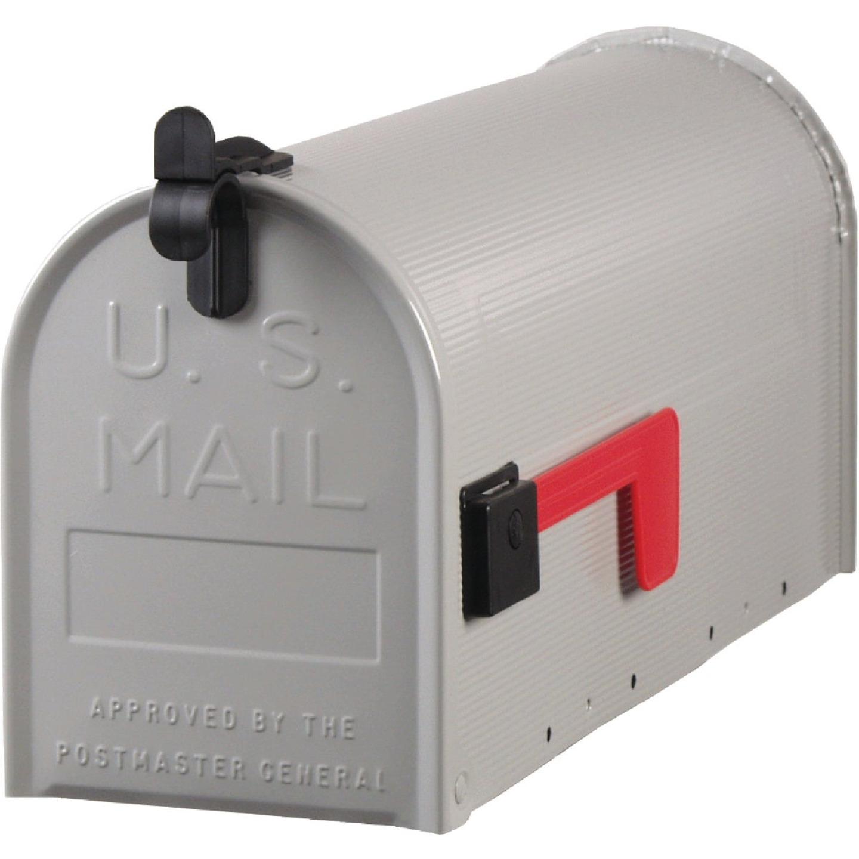 Gibraltar Grayson T1 Gray Steel Rural Post Mount Mailbox Image 1
