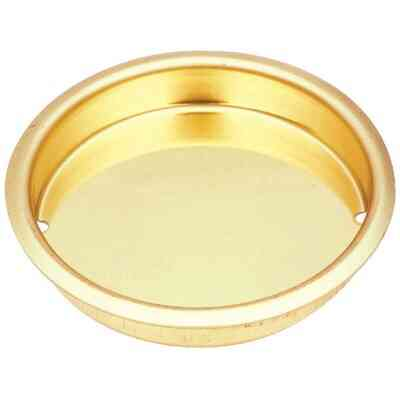 National 1-3/4 In. Dia. Brass Cup Pocket Door Pull