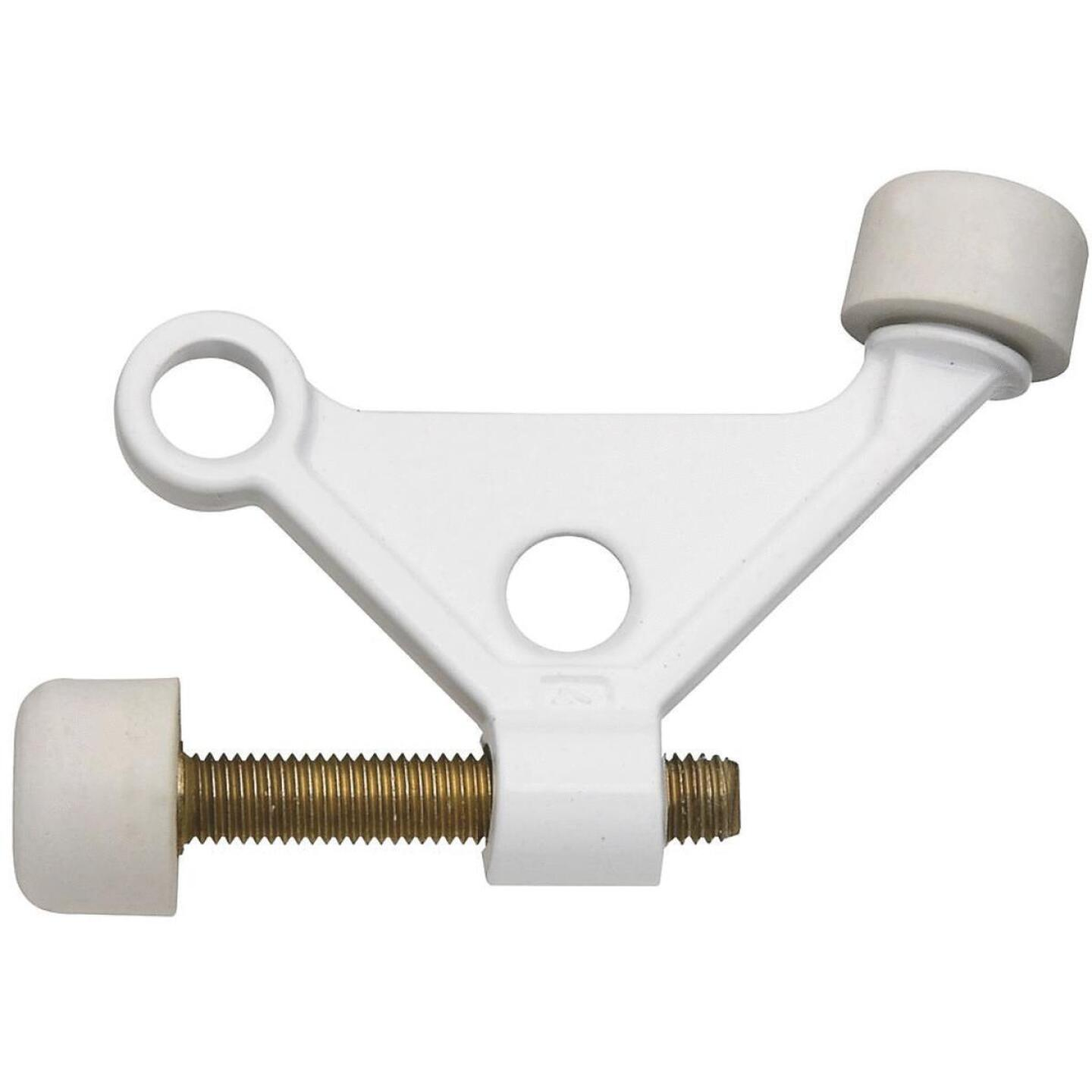 National White Zinc Hinge Pin Door Stop Image 1