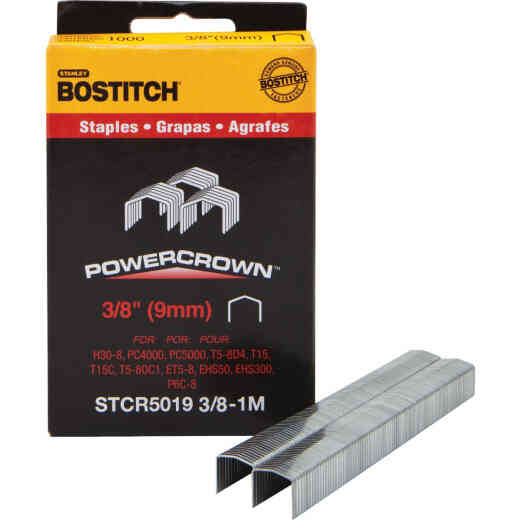 Bostitch Powercrown Hammer Tacker Staple, 3/8 In. (1000-Pack)
