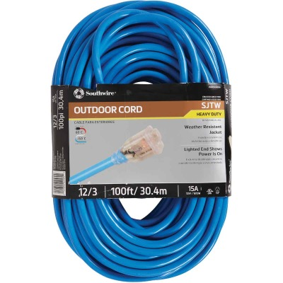 Coleman Cable ColdFlex 100 Ft. 12/3 Cold Weather Extension Cord
