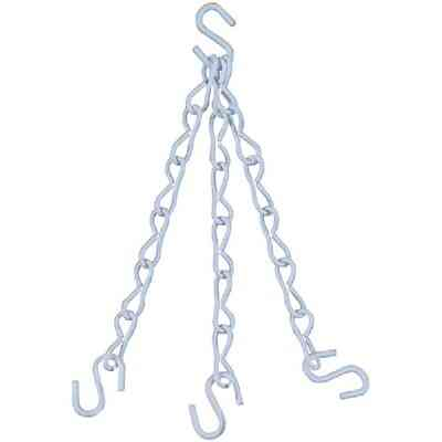 National V2663 18 In. White Metal Hanging Plant Extension Chain