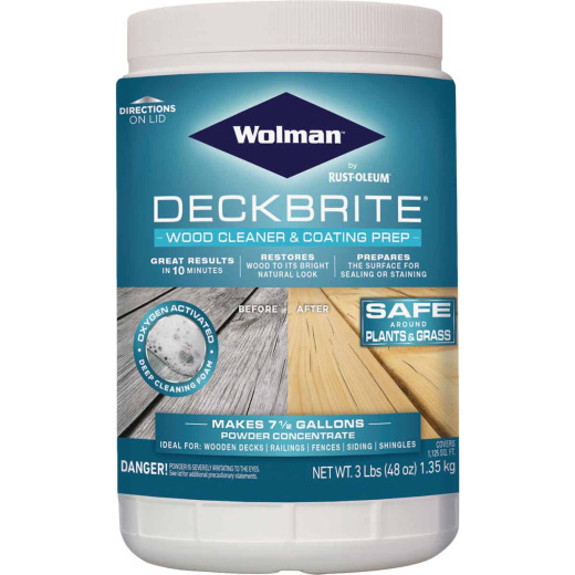 Wolman DeckBrite 3 Lb. Wood Cleaner & Coating Prep
