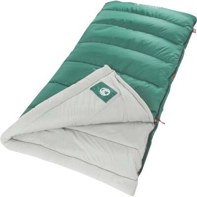 Coleman 40 Degree 33 In. W. x 75 In. L. Green Adult Sleeping Bag