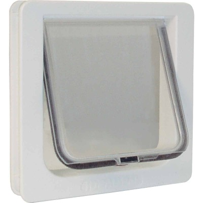 Ideal Pet 6-1/4 In. x 6-1/4 In. Small Plastic White Pet Door